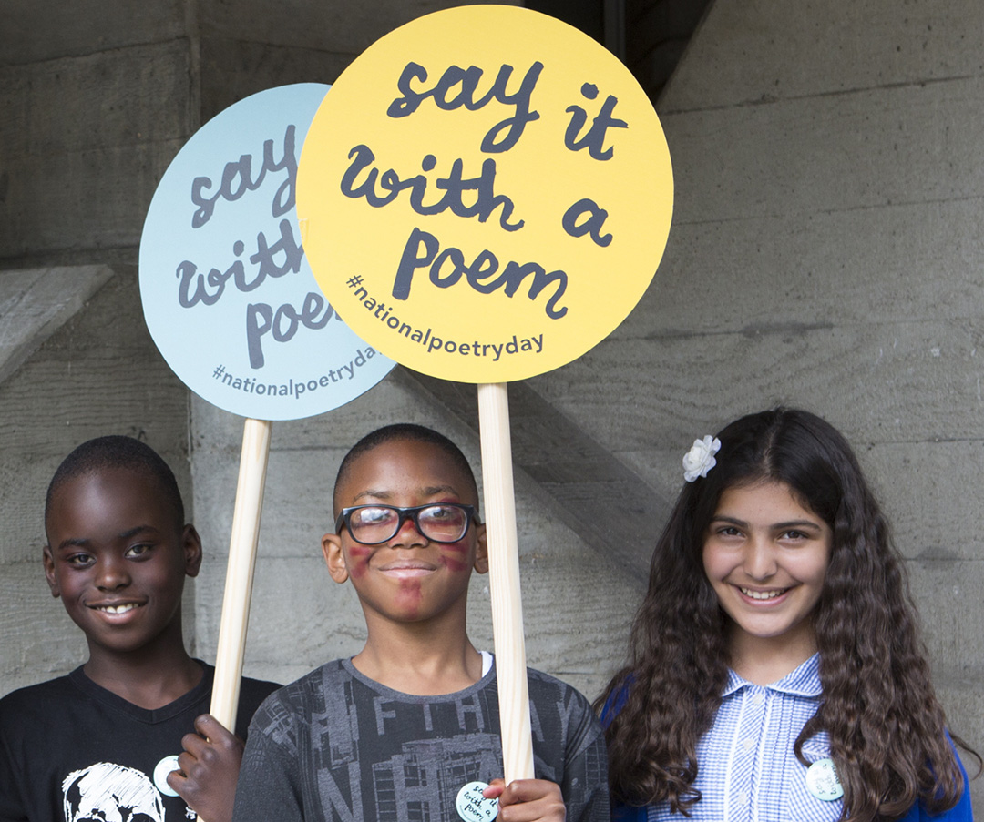 Group of school children Say it with a Poem