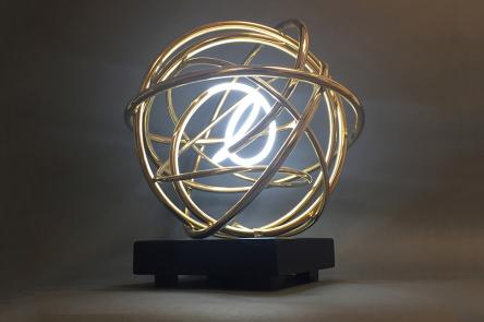 Gold Neon Orb by Mark Beattie