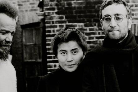 Horace Ové, 'John Lennon giving Michael X his hair to auction, 1969