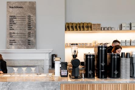 The coffee bar at Watch House cafe at Somerset House
