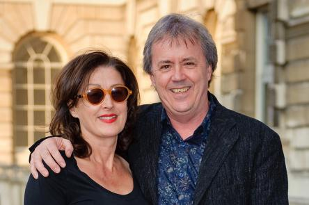 Tony Elliott and his wife Janey, stood in the courtyard at Somerset House