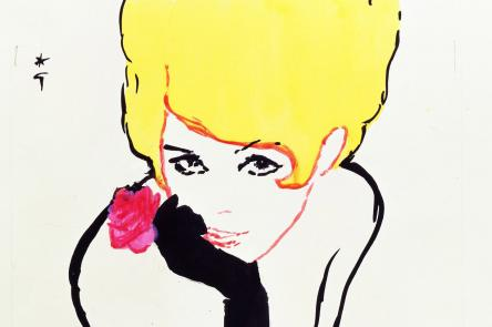 Miss Dior - Rene Gruau - c. 1960 - SARL Rene Gruau