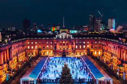 Skate at Somerset House with Fortnum & Mason by Luke Dyson