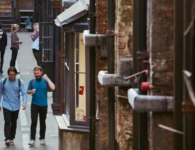 Support artists, Maker Street, Somerset House