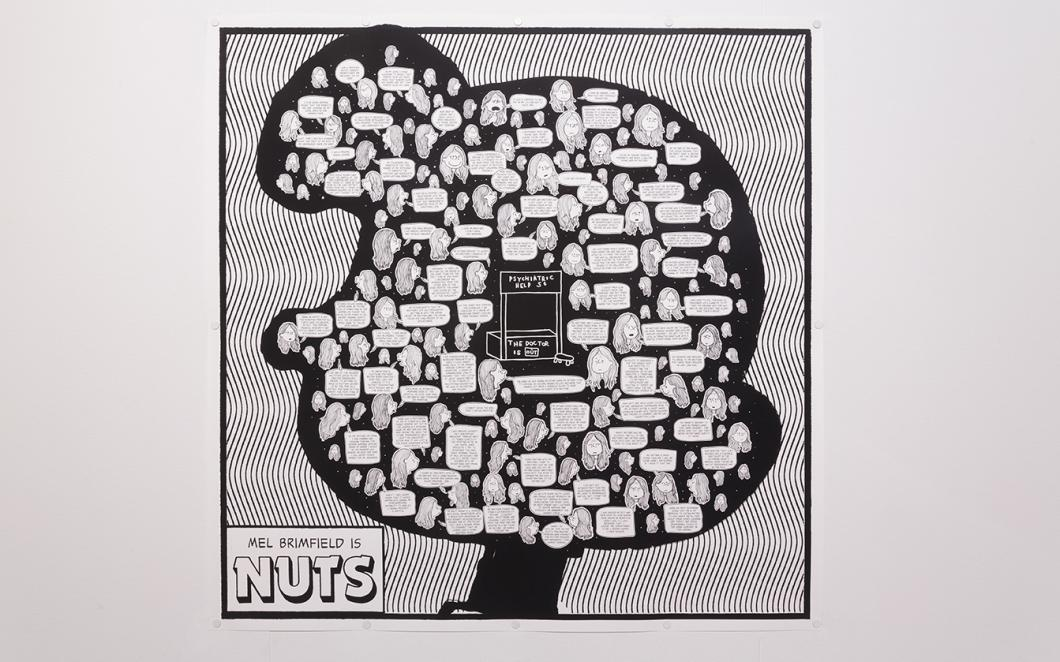 Mel Brimfield Is NUTS, installed in Good Grief, Charlie Brown!