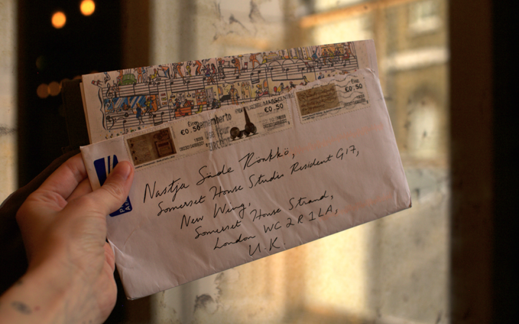 Letters sent to Nastja Säde Rönkkö during her '6 Months Without' residency at Somerset House Studios