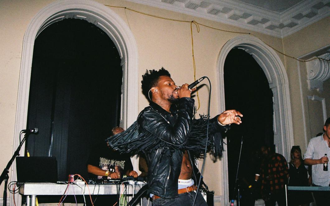 Gaika performing at the opening night of SYSTEM