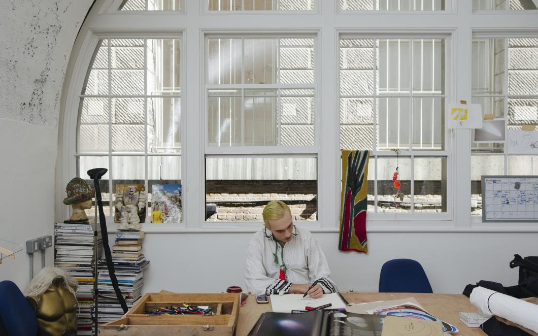 Charles Jeffrey, Somerset House Studios, Image by Dan Wilton