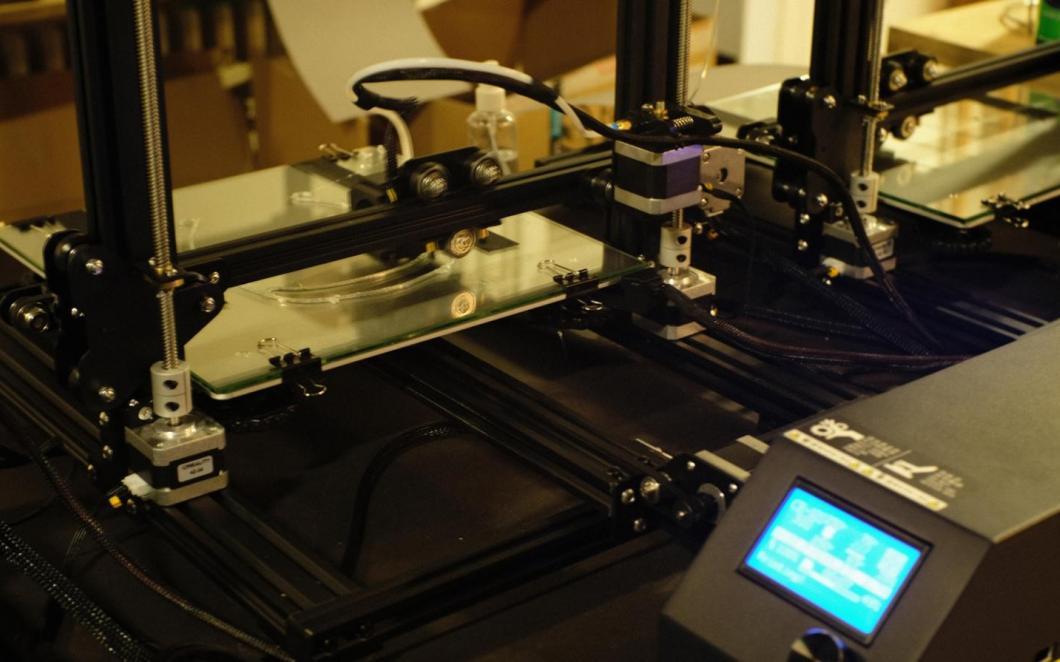 A photo of a 3-D printing farm