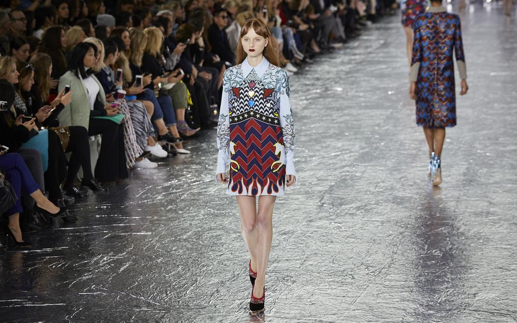 Mary Katrantzou AW16 FOH (Shuan James Cox, British Fashion Council)