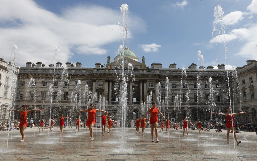 The Edmond J Safra Fountain Court, Somerset House