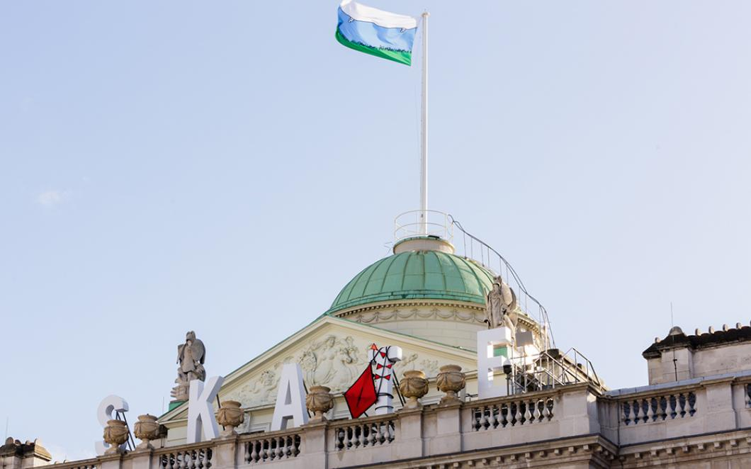 Ryan Gander's new artworks for Good Grief, Charlie Brown! on the roof of Somerset House