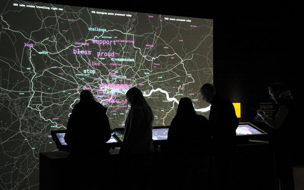 London Data Streams Map Wall