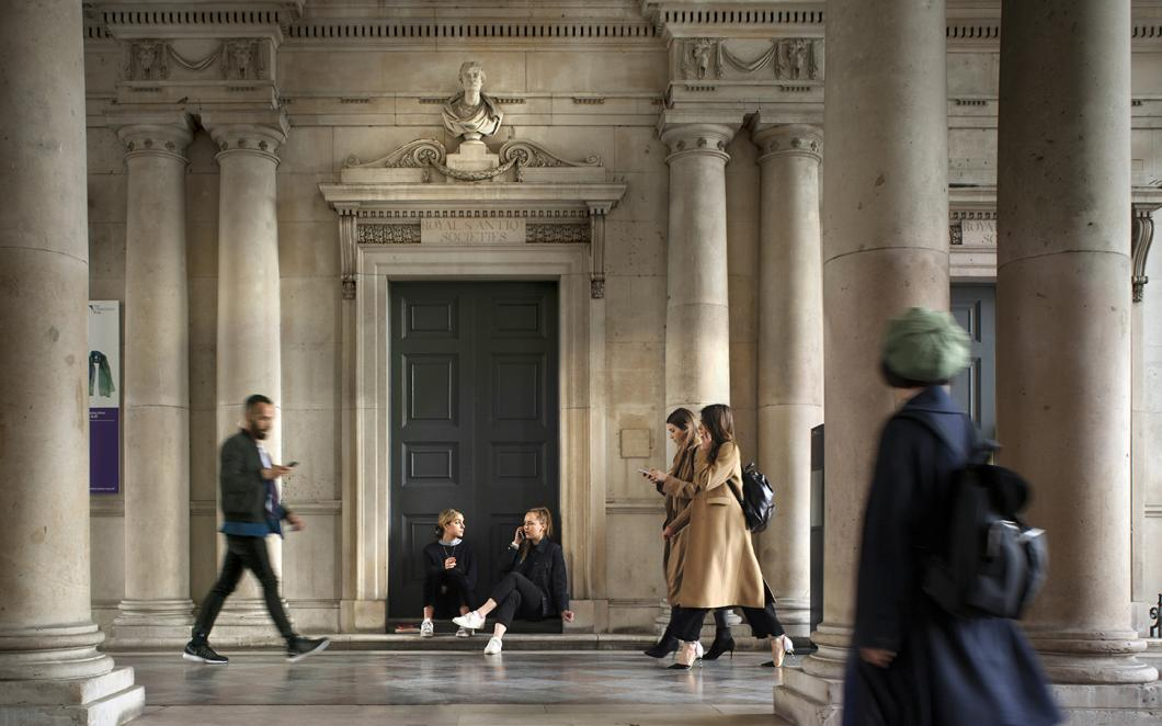 People walking into Somerset House, Photo by Phillip Vile