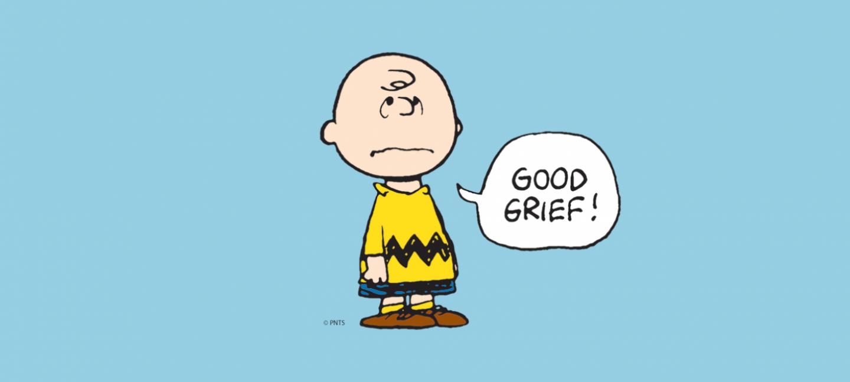 Charlie Brown Good Grief © Peanuts