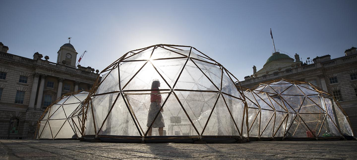 Pollution Pods by Michael Pinsky at Somerset House for Earth Day 2018 (c) Peter Macdiarmid for Somerset House