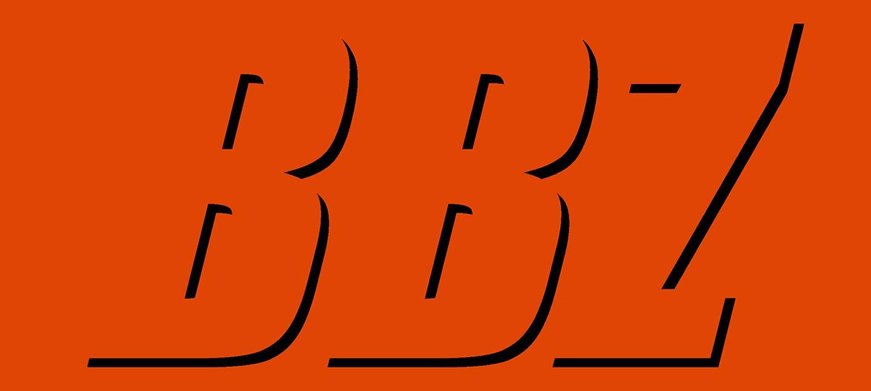 BBZ written in black on orange background