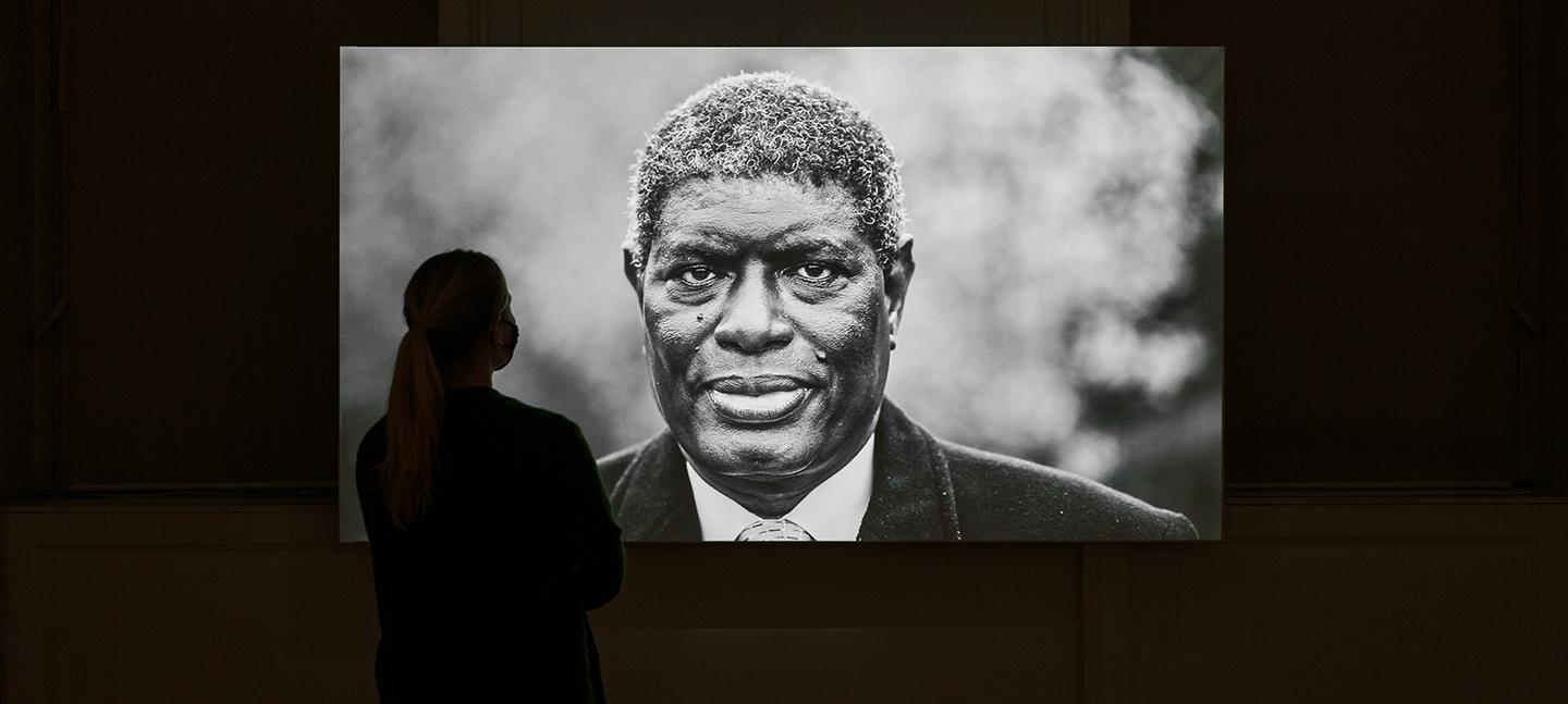 Installation shot of L'Île du Diable (Devil's Island) by Leila Alaoui (c) Tim Bowditch