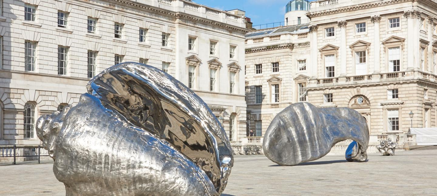 Marc Quinn Frozen Waves, Broken Sublimes at Somerset House. Photo Prudence Cuming Associates © Marc Quinn studio