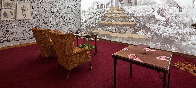 The Matter of Memory. Multimedia Installation 2014. Image courtesy of GIBCA 2015. Installation view Hasselblad Center. Photo:  Hendrik Zeitler