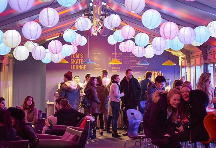 Skate Lounge - Skate at Somerset House with Fortnum & Mason (c) James Bryant
