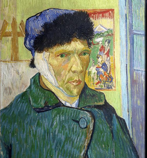 Van Gogh Self Portrait with Bandaged Ear, Courtauld Gallery, Somerset House