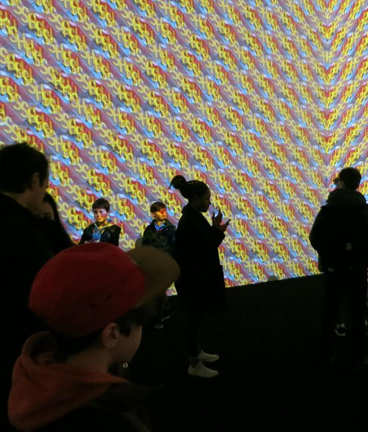 Surround Sounds, 2015 Installation with four silent synchronized projected animations. White Cube London © Christian Marclay