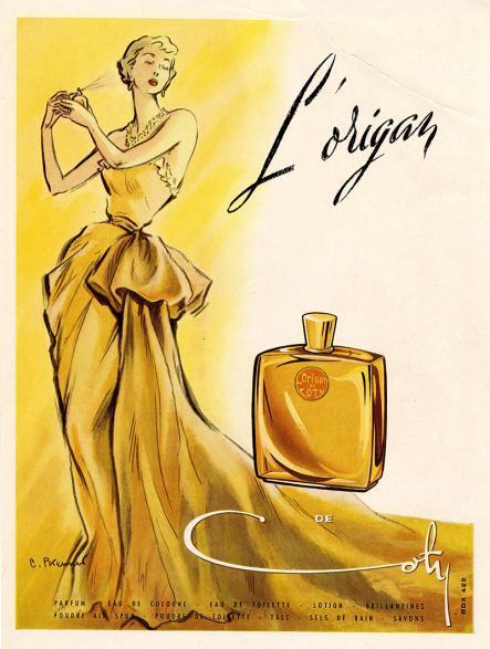 L'Origan de Coty Advertisement, circa 1950