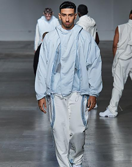 Saul Nash AW20 Shelter Catwalk supported by Fashion East. Photo courtesy of Vogue Runway