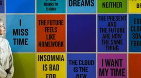 Douglas Coupland's Slogans for the 21st Century (2011-Present) at 247 at Somerset House (c) Stephen Chung for Somerset House