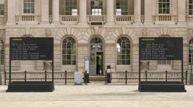 Arrivals + Departures by YARA + DAVINA installed in front of the South Wing of Somerset House
