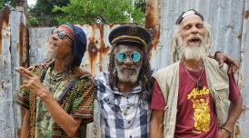 Film still of reggae legends Winston McAnuff, Kiddus I and Cedric Myton looking at the camera. Image courtesy of Picturehouse