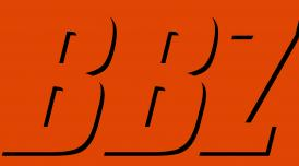 BBZ written in black on orange background