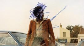 Photo by Karl Ohiri, titled 'How to mend a broken heart'. It shows a defaced photo of a Black woman leant on a car.