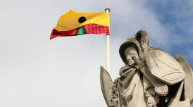 Larry Achiampong Flag Commission - Pan African Flag for the Relic Travellers' Alliance