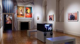 Installation view of Kaleidoscope: Immigration and Modern Britain