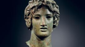 The Classical Now, Bronze head of Apollo, first to second centuries AD, 40 × 25 × 27 cm. © MACM (Musée d'Art Classique de Mougins).