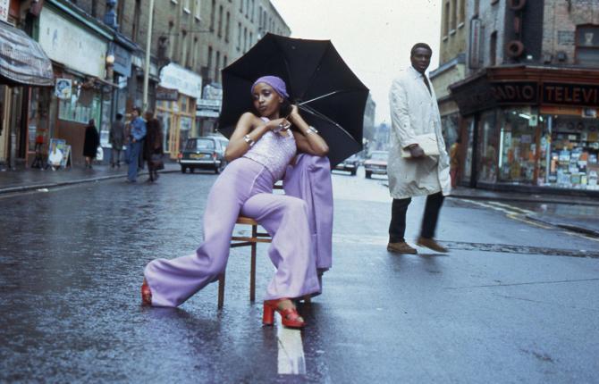 Armet Francis, 'Fashion Shoot Brixton Market', 1973. Courtesy of the artist.