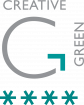 Creative Green 4 Stars logo mark